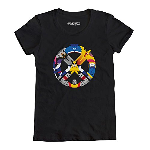 Marvel Comics Mens X-Men United X Character Logo Crew Tee