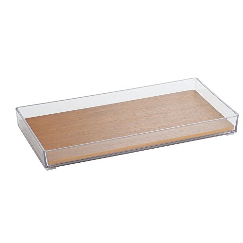 InterDesign Formbu Vanity, Tray, Natural Bamboo