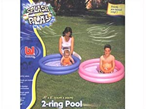 2 ring baby small person paddling pool 48 x 8 amazon for Small paddling pool