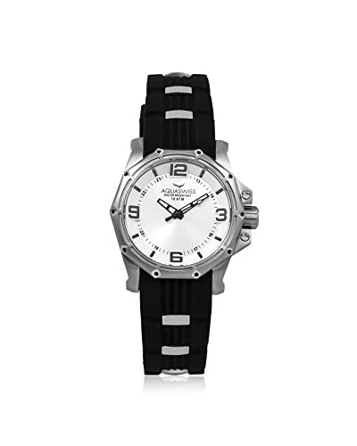 Aquaswiss Women's 81M002 Black/white Stainless Steel, Silicon Watch