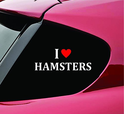 I Love Hamsters Vinyl Decal Sticker Funny