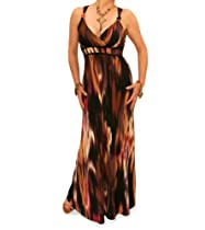 Big Sale Blue Banana - Brown and Gold Maxi Dress US Size 12