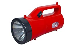 Amardeep (Made in India) 1W High-Bright L.E.D. Slim Rechargeable Torch - RED