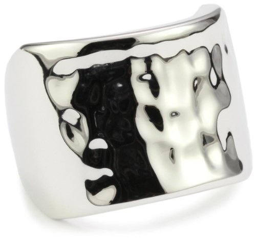 ELLE Jewelry Sterling Silver Hammered Ring