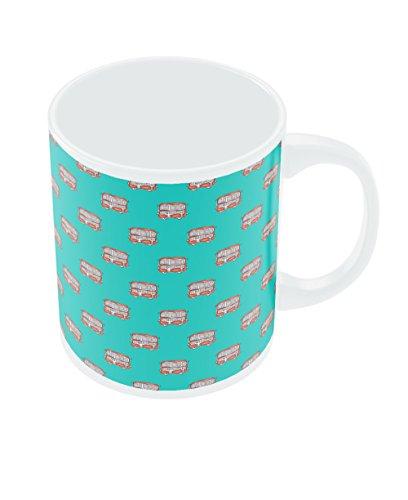 PosterGuy Mumbai Double Decker Bus Designer Quirky Ceramic Coffee White Mug
