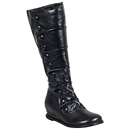 Miz Mooz Women\'s Bloom Engineer Boot, Black, 10 M US
