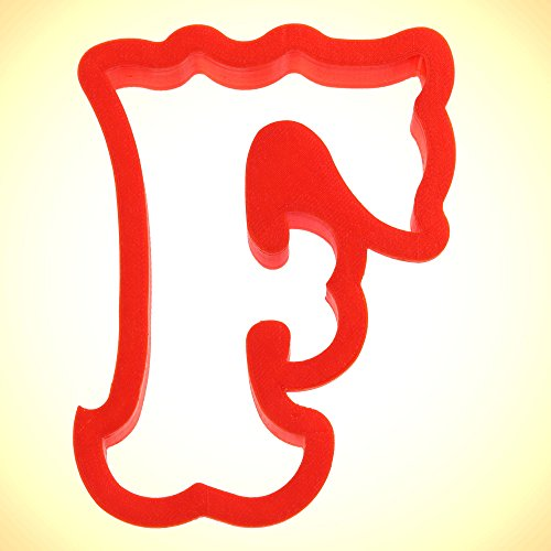 Curly Letter F Cookie Cutter 4 in (Letter F Cookie Cutter compare prices)
