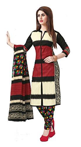 Suhanee Sarees Printed Cotton Dress Materials - Beige