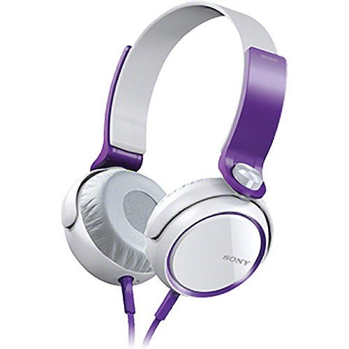 Sony Xb Series Extra Bass Headphones W/ Ear-Cup Mdr-Xb400 (Violet)