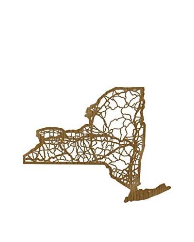Cut Maps Wooden New York Map