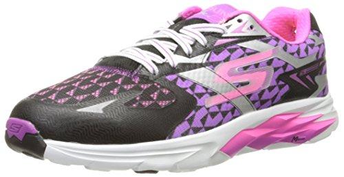 Skechers Performance Women's Go Run Ride 5 Running Shoe, Black/Purple, 9.5 M US