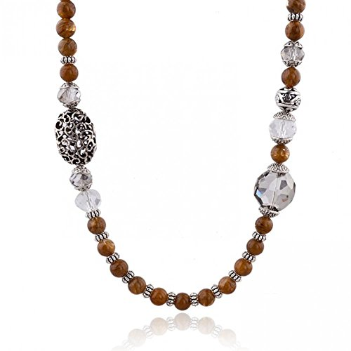 Worldwide Mall Natural Stone Crystal Beaded Marni Charm Necklace Women Collares Vintage Fashion Jewelry Channel Buddha Necklace Sne