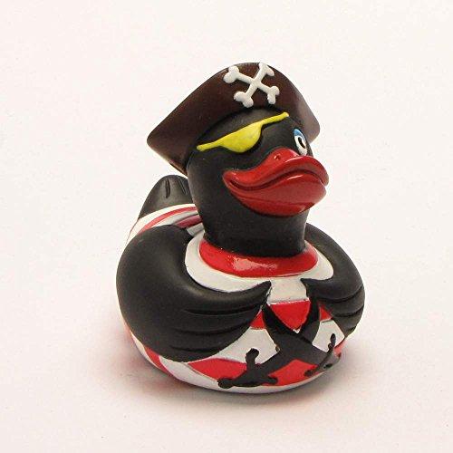 Rubber Duck Pirate black | anatra di bagno | paperella di bagno | anatra di gomma | Gioco per il bagnetto