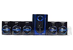 Vemax Swag 5.1 Home Theater System With FM USB AUX (Black & Blue) [New & Improved]