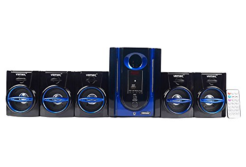 Vemax Swag 5.1 Home Theater System With FM USB AUX (Black & Blue)