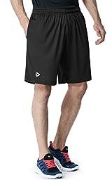 CLSL TM-MTP07-BLK_Large j-XL Tesla Men\'s Lightweight HyperDri Running Shorts With Pockets MTP07