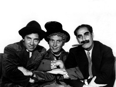 Marx Brothers - Groucho, Chico and Harpo - from A Night at the Opera