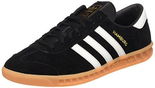 Adidas Hamburg, Scarpe da Tennis Uomo, Multicolore (Cblack/Ftwwht/Gum2), 41 1/3 EU