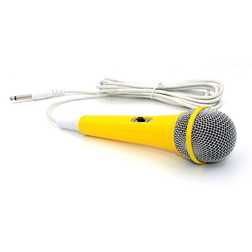zramor-professional-classic-style-yellow-color-kids-dynamic-microphone-for-kids-sing-machine-works-w