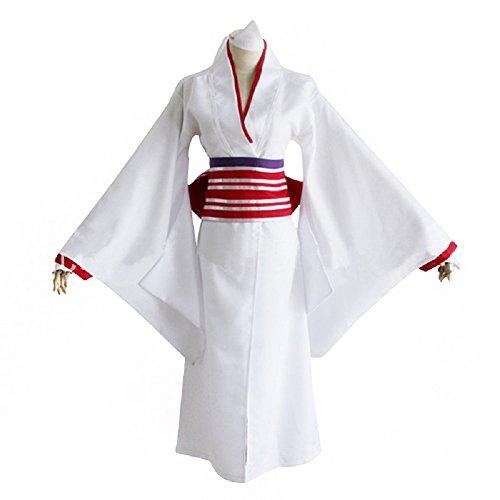 [Mtxc Women's Noragami Cosplay Nora/Hi Kimono Size Small White] (Noragami Nora Costume)