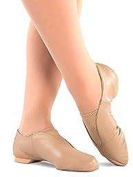 Danshuz Girl\'s Value Jazz Soft Tan Dance Flats 12.5 M