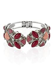 Multi-Faceted Stone & Diamanté Encrusted Bangle