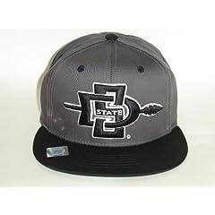 Buy NCAA San Diego State Aztecs Retro Logo SD Darkgray 2Tone Snapback Cap Hat by Eclipse