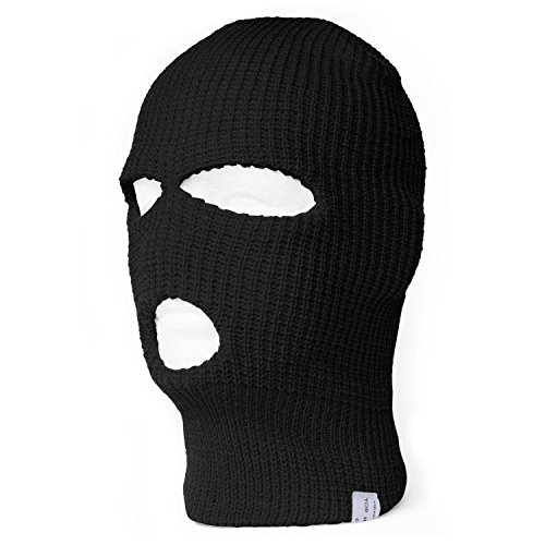 TopHeadwear Face Ski Mask 3 Hole (More Colors)- Black (Ski Mask 3 Hole compare prices)