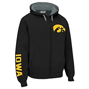 Iowa Hawkeyes Hooded Full Zip Logo Sweatshirt by E5