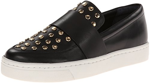LOEFFLER RANDALL Women's Irini Slip-On Loafer,Black/Gold,7 M US