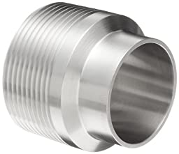 Dixon B19WB-G150 Stainless Steel 304 Sanitary Fitting, Unpolished Weld Adapter, 1-1/2\