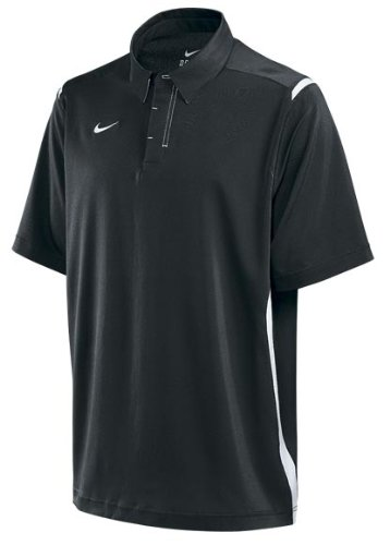 Nike Men's Golf Tennis Coach Polo Shirt Black