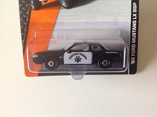 Matchbox MBX Heroic Rescue '93 Ford Mustang LX SSP Highway Patrol Black/White - 1