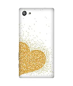 Golden Heart Sony Xperia Z5 Case