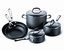 Calphalon Simply Calphalon Hard-Anodized Nonstick 8-Piece Cookware Set