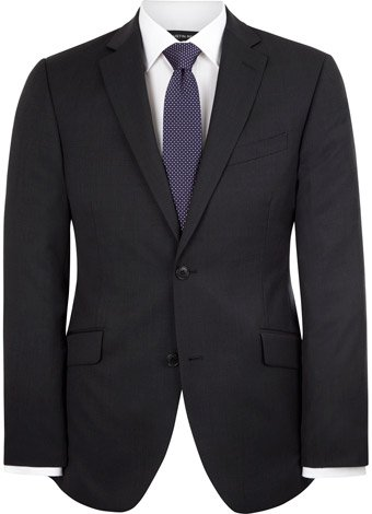 Austin Reed Contemporary Fit Grey Semi Plain Jacket SHORT MENS 44