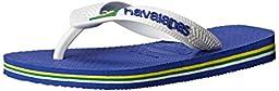 Havaianas Brazil Logo Sandal Flip Flops (Toddler/Little Kid), Marine Blue, 23-24 BR(9 M US Toddler)