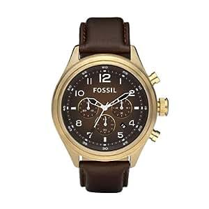 Fossil Herren-Armbanduhr Chronograph DE5002 Vintage Bronze mit Datumsanzeige