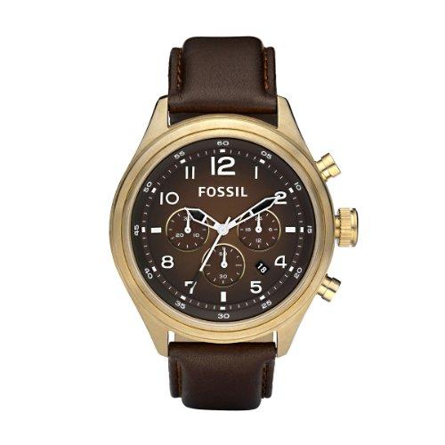 FOSSIL DE5002 - Reloj cronógrafo de cuarzo para hombre con correa de piel, color marrón