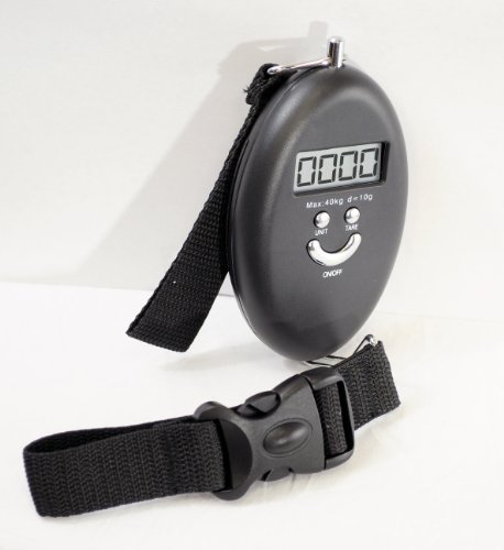 Gsi Super Quality Electronic Digital Light-Weight Portable Travel Luggage Scale - Postal Scale Function - Attach To Luggage