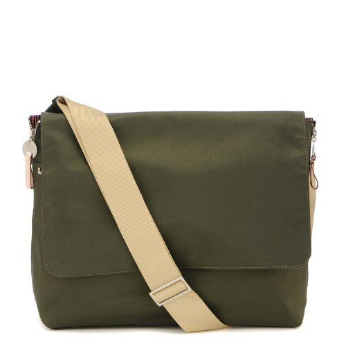 Danzo Diaper Messenger Bag, Dark Olive front-1016665