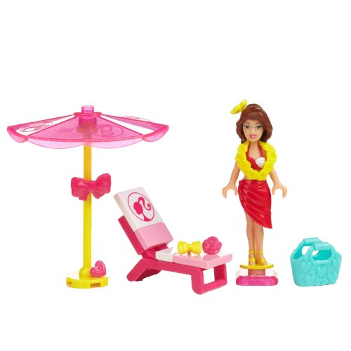 Mega Bloks Barbie Mega Bloks Barbie and Friends Splash Time Tersa, Multi Color