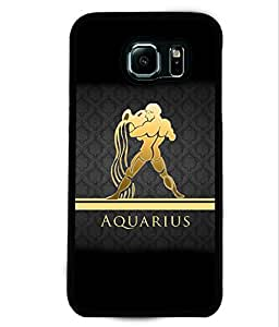 PRINTVISA Aquarius Premium Metallic Insert Back Case Cover for Samsung Galaxy S6 - D5963