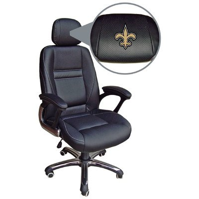 NFL New Orleans Saints Leather Office Chair at Amazon.com