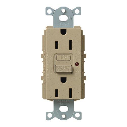 Lutron Scr-15-Gftr-Ms Satin Colors 15A Gftr Electrical Socket Receptacle, Mocha Stone