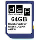 DSP Memory Z-4051557423756 64GB Speicherkarte für Nikon COOLPIX AW110