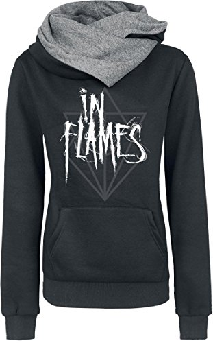 In Flames Scratch Logo Felpa donna nero S
