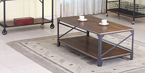 Wholesale Interiors Baxton Studio Greyson Vintage Industrial Occasional Cocktail Coffee Table, Antique Bronze 0