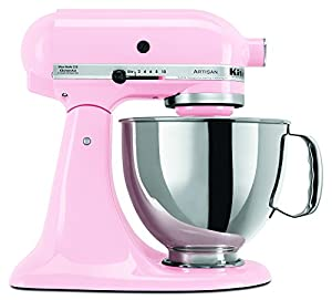 KitchenAid KSM150PSPK 5-Quart Artisan Series Mixer with Pouring Shield, Pink