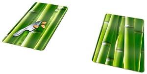 Wenko 2521350100 Glasabdeckplatten Universal Bambus 2-er Set